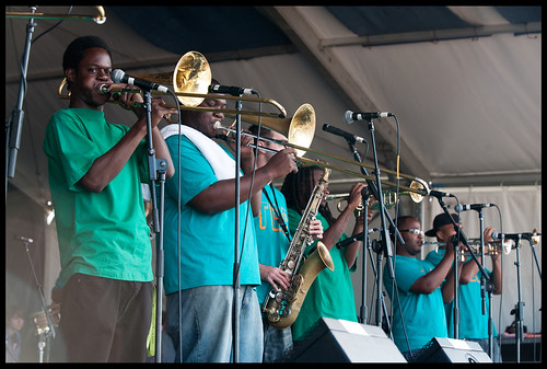 TBC Brass Band at Jazz Fest 2013. by Ryan Hodgson-Rigsbee (www.rhrphoto.com)