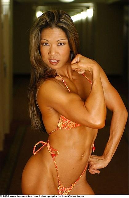 Asian female fitness models