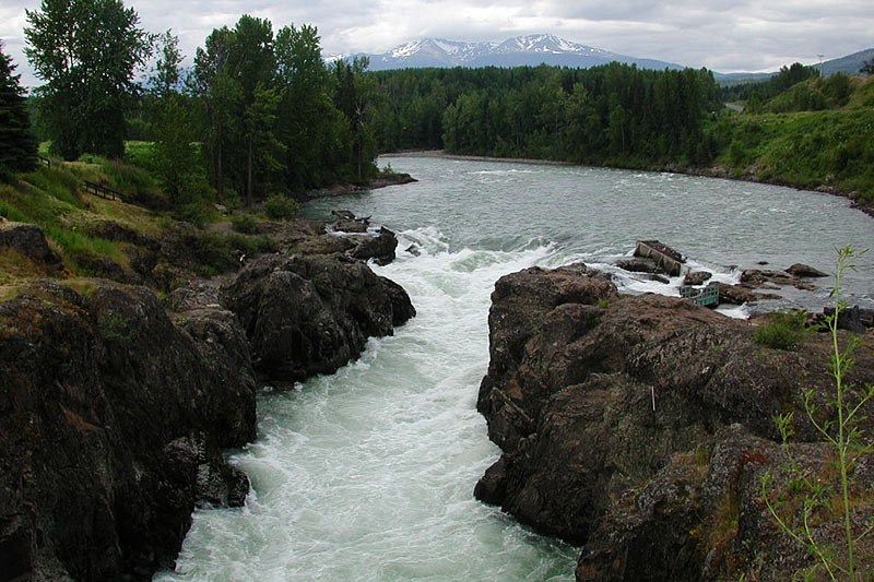 Moricetown Canyon, Moricetown,Yellowhead Highway 16, Northern British Columbia, Canada