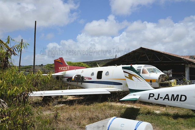 Private North American NA265-40 Sabreliner (YV225T) stored at Hato Curacao