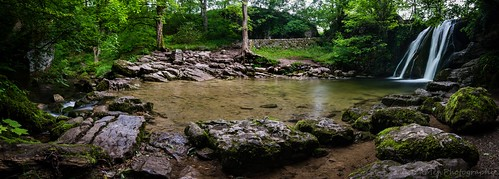 trees water landscape waterfall scenery rocks stream long exposure yorkshire foss janets dales malham
