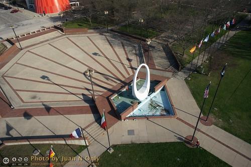 sculpture usa fountain spring outdoor michigan may kap aerialphotography kiteaerialphotography baycity 2013 criticismwelcome wenonahpark juannonly wwkap2013