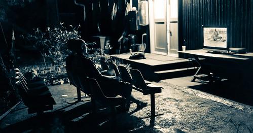 people panorama woman dog man guy art film girl festival night project dark island mediterranean experimental watching culture documentary croatia fringe event shipyard viewing happening adriatic lussino 2013 malilošinj lošinj škver 2stitchedimages