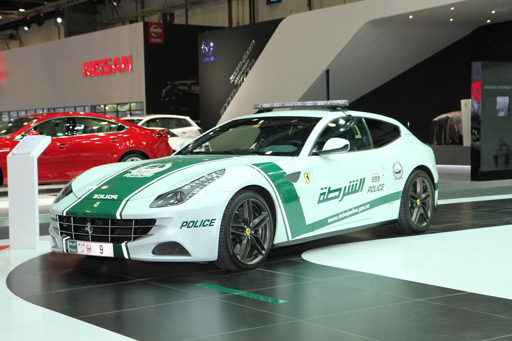 Ferrari in Dubai police cars