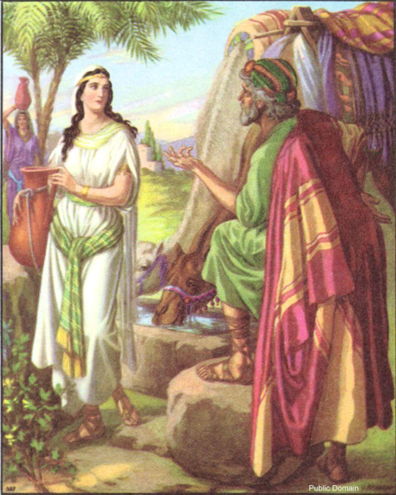 OT0124A.Eleazar and Rebekah