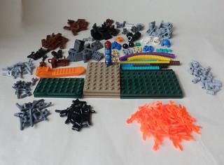 Lego 1 Trans Light Blue 6L Technic 7mm Ribbed Hose