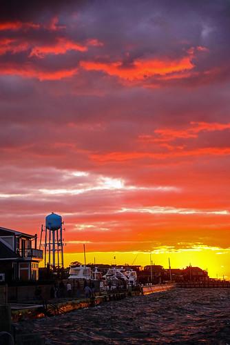 sunset newyork clouds landscape dusk watertower longisland coastal oceanbeach fireisland seaview waterscape d600 nydavid1234