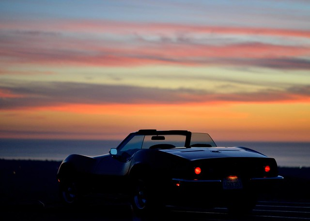 nikon nikkor 105mm 2.5 ais D800 Corvette Stingray Convertible Sunset