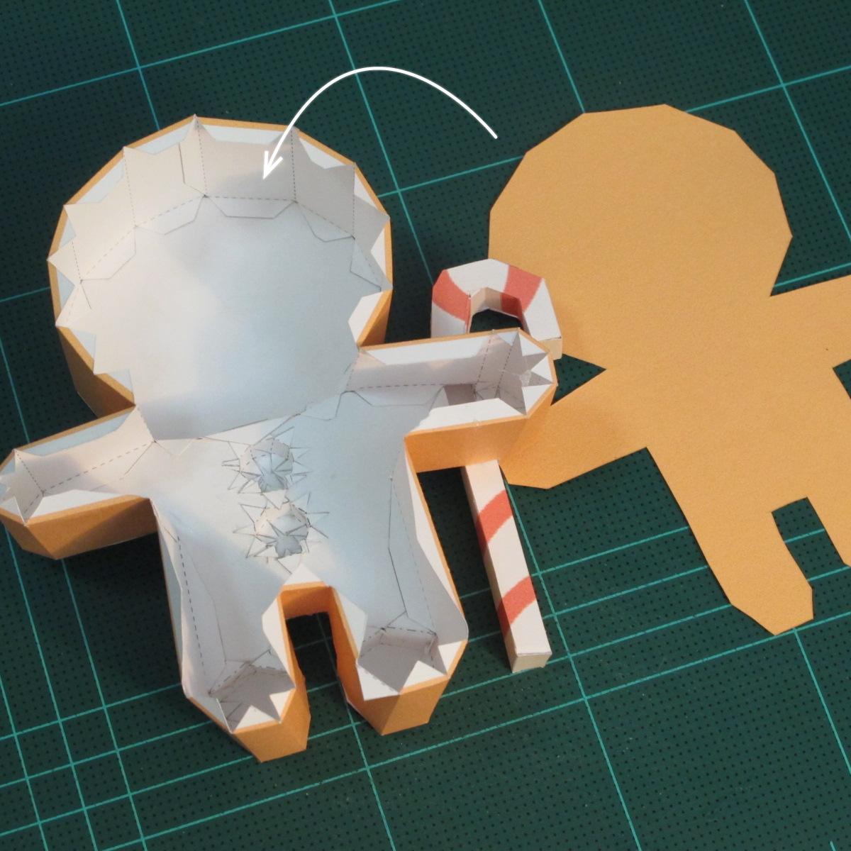 วิธีทำโมเดลกระดาษตุ้กตาคุกกี้รัน คุกกี้ผู้กล้าหาญ แบบที่ 2 (LINE Cookie Run Brave Cookie Papercraft Model Version 2) 022