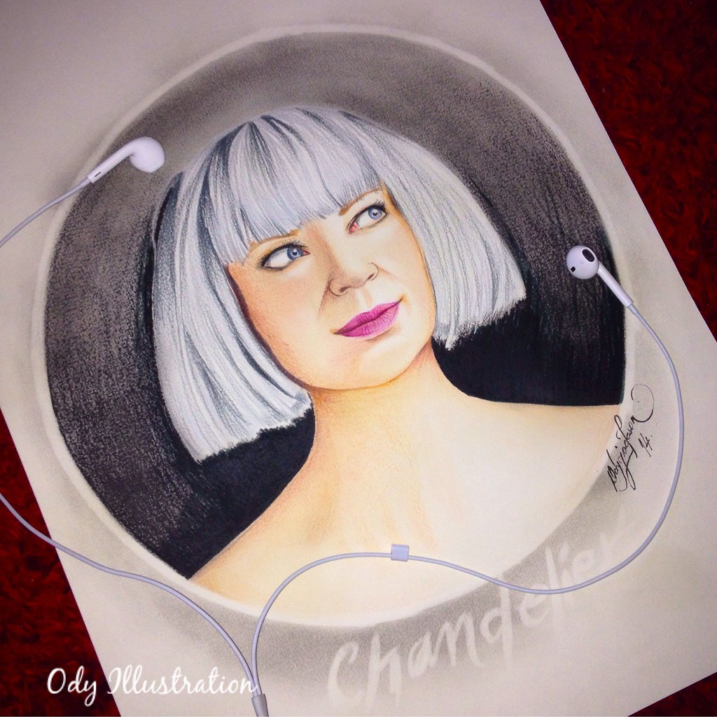Sia Chandelier • Finished! #fanart #illustration #freehand… | Flickr