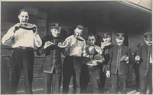 Members of the Sousa Band eating melons | by simpleinsomnia