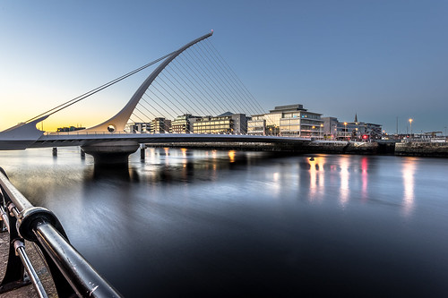 Samuel Beckett bridge at sunset, Dublin, ireland | by Giuseppe Milo (www.pixael.com)