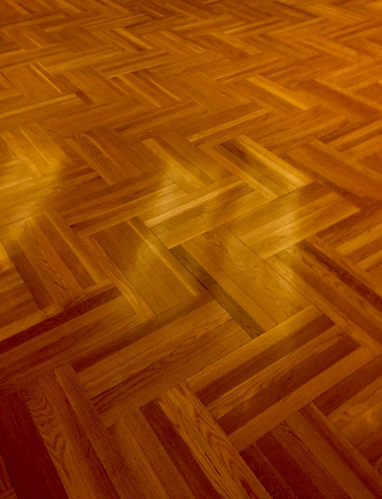 WOOD FLOOR AT THE ROYAL ONTARIO MUSEUM PARQUET STYLE ROSS DUNN