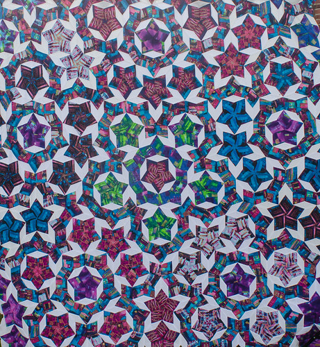 I will swap out a few stars on this quilt top, but not as many as I feared I would need to.  It's quite striking. I'm pleased.
