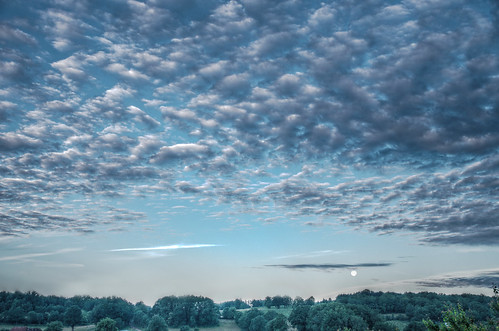 sky moon clouds lune landscape ciel nuages paysage hdr moonset skyview pentaxk5