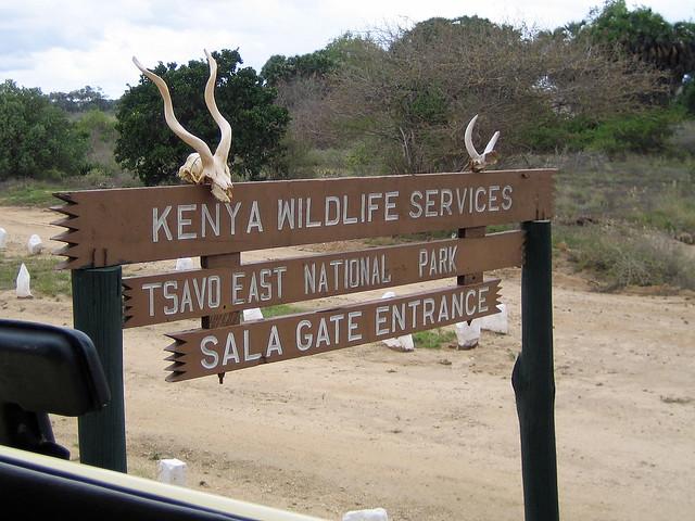 Tsavo East National Park Entrance - Kenya