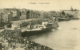 Dieppe, la gare maritime   by Simenon.com