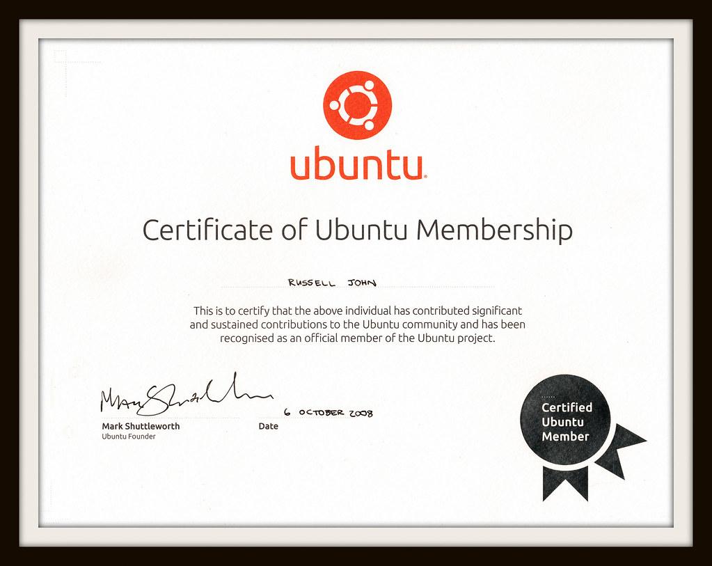 ubuntu certified member membership linux