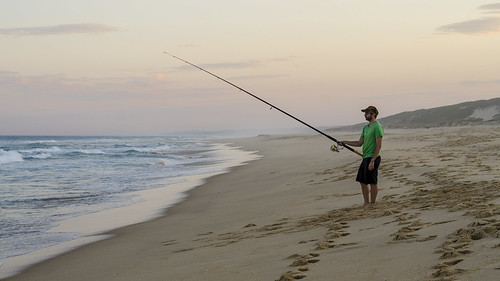 fish fishing fisherman ocean pacificocean sea seascape water landscape outdoors sunset colour sky sand beach sport hungry flickrfriday nikond7000 nikon50mmf18