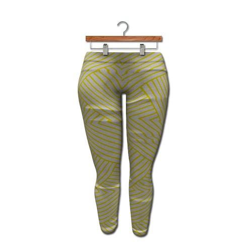 {MYNX} Leggings - Yellow Stripes