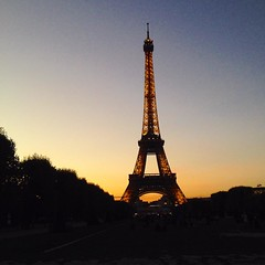 Sunset #eiffeltower #toureiffel #paris #sunset