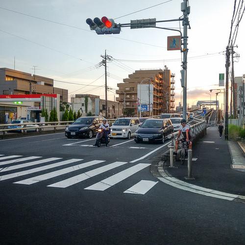 japan chiba city street road sunset motog