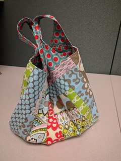 Patchwork Grocery Bag Side 1