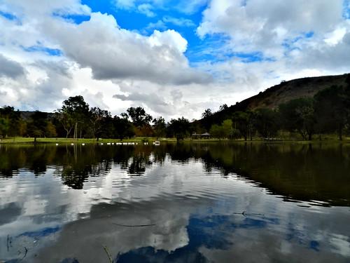 california usa lake water clouds brea carboncanyon