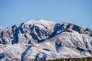 Franklin Mountain Peaks with Snow | by awsheffield