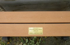 """The new """"recycled"""" bench"""
