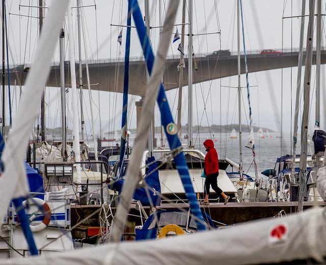 A rainy walk in Stenungsund Harbour