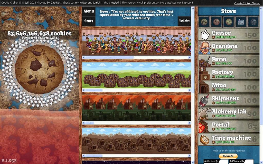 24 181/365-Cookie Clicker | orteil dashnet org/cookieclicker