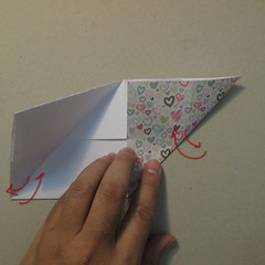 วิธีการพับกระดาษเป็นรูปหัวใจ 005