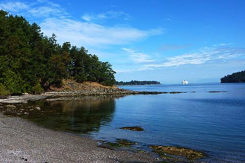 Seal Beach, Miners Bay, Mayne Island, Southern Gulf Islands, British Columbia