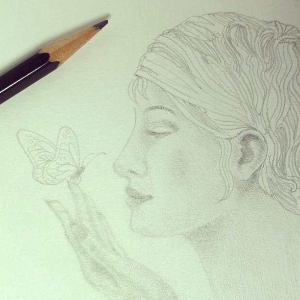 Valencia Paper Drawing Sketching Pencil Eraser Girl