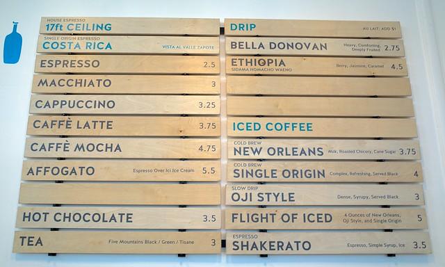 All sizes | Blue Bottle Coffee W C  Morse café menu | Flickr