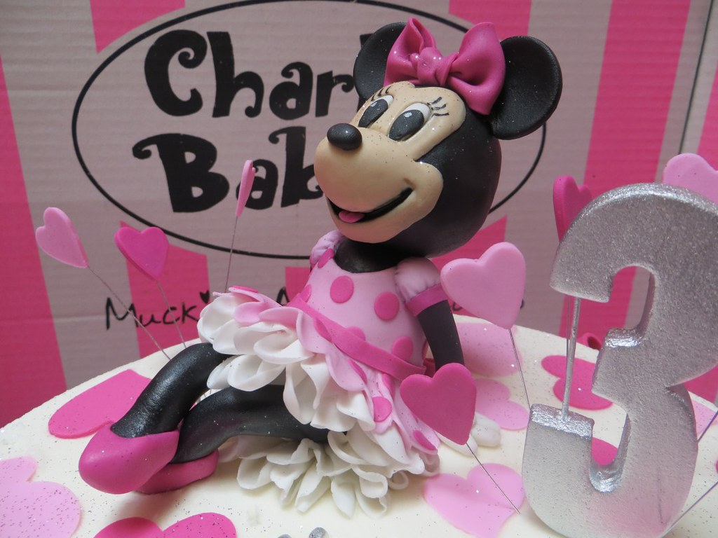 Prime 3D Fondant Minnie Mouse Cake Topper Charlys Bakery Flickr Funny Birthday Cards Online Eattedamsfinfo