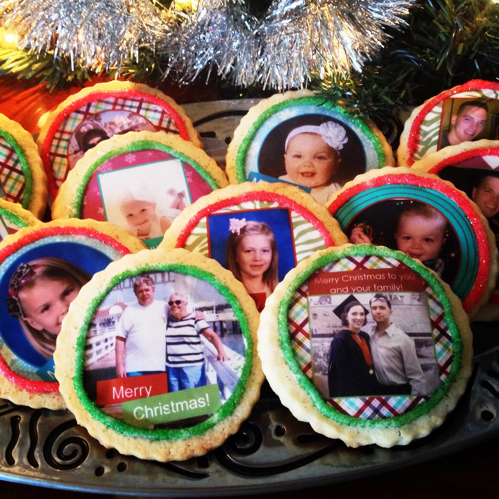 Custom Christmas Cookies Custom Photo Cookies From Fashion Flickr