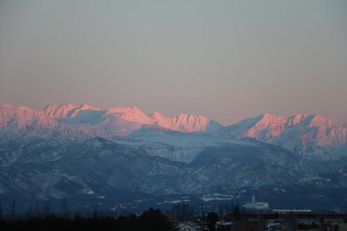 wetland mountain toyama japan nature sunset 富山市