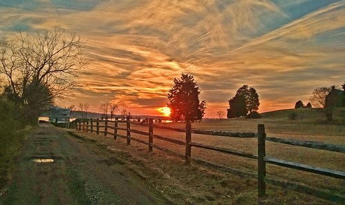 trees winter sunset nature clouds fence landscape pasture annapolis