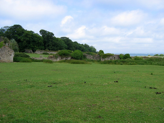 The remains of Quarr Abbey