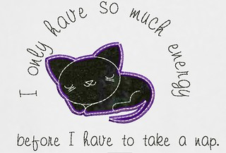 Kawaii Cat T Shirt With Quote | by Stitchcottage