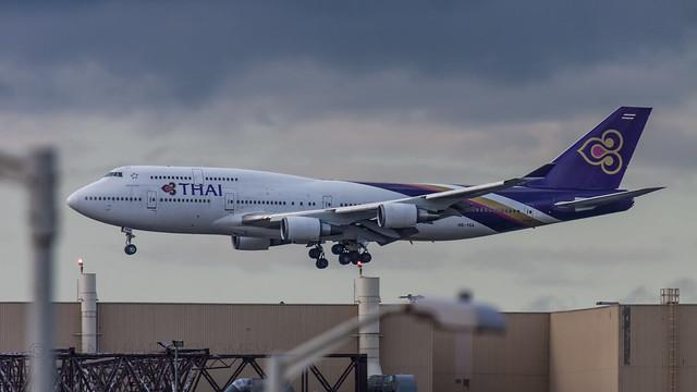 HS-TGA, Thai, Boeing 747-4D7, EGLL/LHR