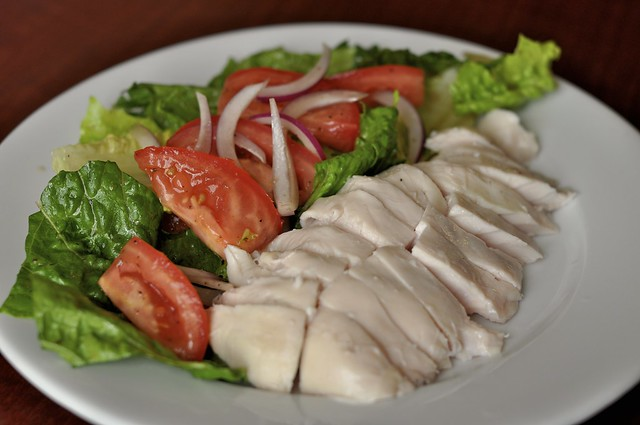 Simple Salad with Sous Vide Chicken Breast