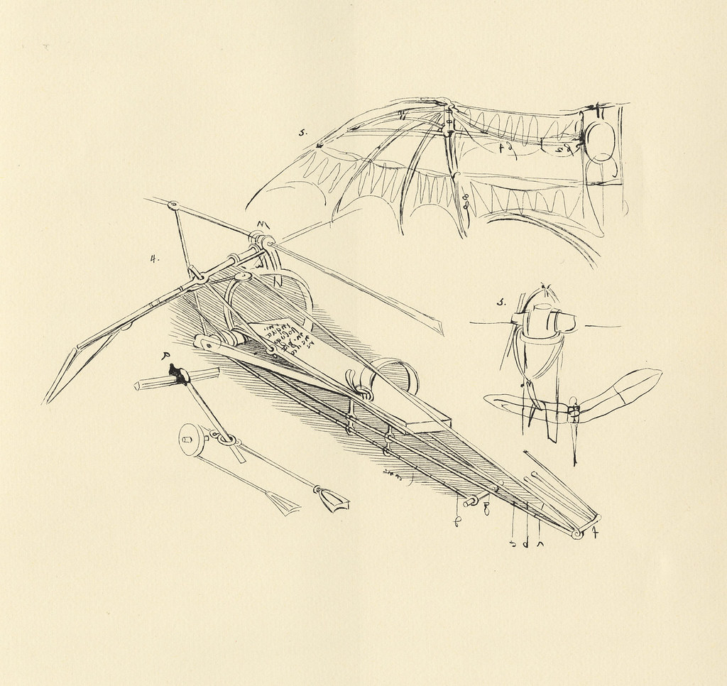 Leonardo Da Vinci  Diagram Of A Proposed Flying Machine  1