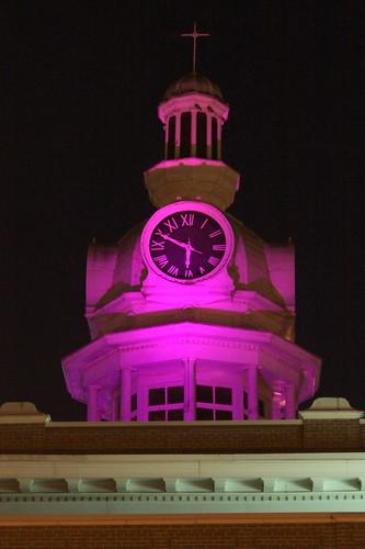 murfreesboro tn tennessee rutherfordcounty 1859 courthouse countycourthouse purple predawn alzheimersassociation memorywalk alzheimersmemorywalk walktoendalzheimers bmok