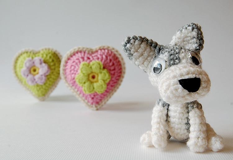 Amazon.com: Amigurumi Puppies Husky - Shiba Inu - Rottweiler ... | 516x750