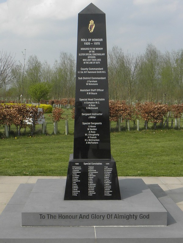 The Ulster Special Constabulary memorial at the National Memorial Arboretum