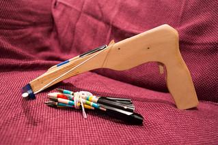 Hardware store mini crossbow | by evilrobotsmash