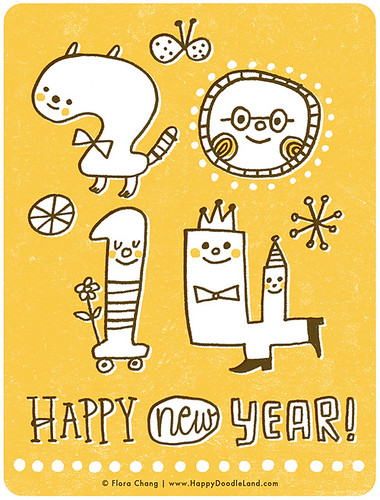 Happy 2014! | by Flora Chang | Happy Doodle Land